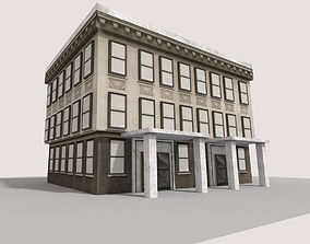 low poly city building 3D