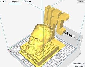 Conor McGregor head on UFC base 3D print file STL