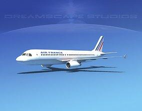 3D asset Airbus A320 LP Air France