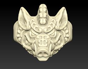 Boar Ring 3D printable model
