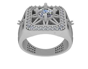 3D printable model 016 - Gents Ring