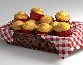 Simple muffin-madeleine basket 3D model