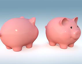 Piggy bank PBR 3D model