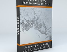 3D Istanbul Road Network and Streets