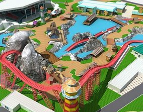theme Amusement Park 3D model