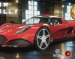 3D model Ferrari LaFerrari Car Low-poly