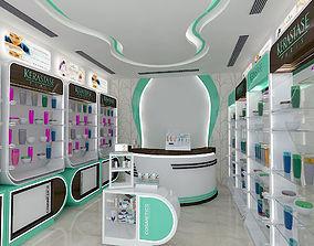 3D model pharmacy stand interior 1