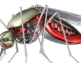3D cybernetic Mosquito robot bloodsucker