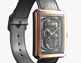 3D Chanel Boy Friend Skeleton Gold closed strap