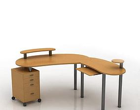 Modern Wooden Office Table 3D model