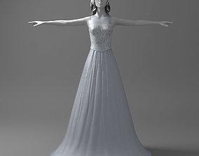 Nice wedding dress 3D