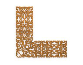 Classic decor ornament v-3D model 02