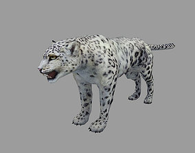 3D model realtime Snow Leopard Rigged Animated