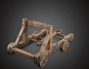 3D asset Catapult - MVL - PBR Game Ready