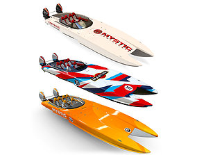 3D model Detailed collection Mystic Powerboat hquality