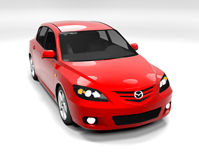 MAZDA 3 2004 LOWPOLY 3D asset