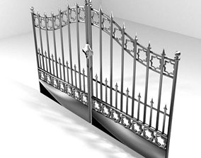 Steel Door Gate Type 4 3D