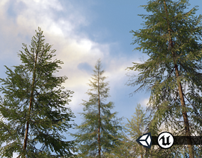game-ready Nature Assets - Spruce Trees