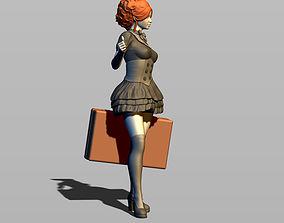 3D print model Girl hitchhiker