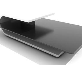 Three Tiered Minimalist Coffee Table 3D asset