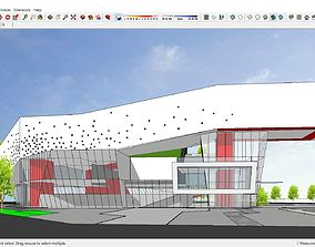 3D model Sketchup Cultural center OR Exhibition Hall G10