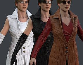 3D asset Female 1 - clothing 6 - Full Pack