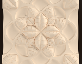 3D model Decorative carving rosette mandala rectangular