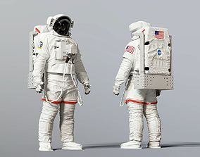 SPACESUIT NASA EMU SAFER 3D model