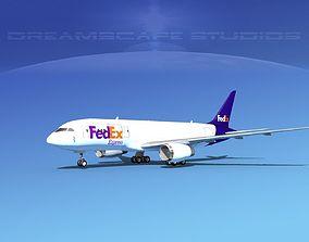 Boeing 787-8 FedEx 3D model