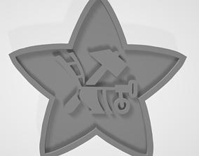 Soviet Red Army 1918 Cap Badge 3D print model