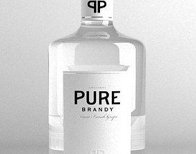 3D model BottleBrandy 01