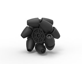 3D printable model Diecast Mecanum wheel