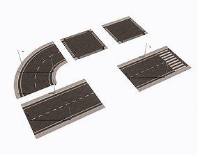 overpass STREET 3D model game-ready