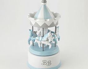 3D Musical carousel BB blue Amadeus