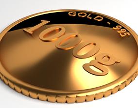Goldcoin 1000gram 3D