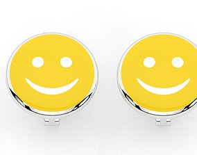 baby earrings smile 3D print model