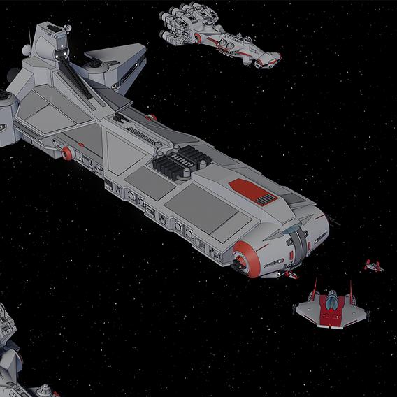 Pelta Class Frigate - Star Wars - Fan Art