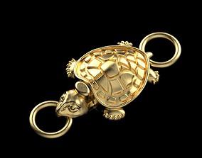 3D printable model lock turtle