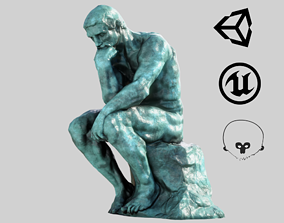 3D asset VR / AR ready The Thinker