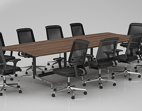 3D Conference Meeting Room Furniture 06