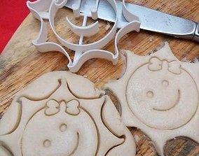 Happy Sun girl cookie cutter 3D print model