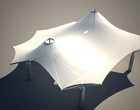 Membrane Tent Roof 3D model low-poly