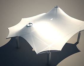 Membrane Tent Roof 3D model low-poly