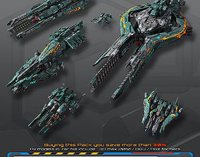 Spaceships Vol-04 3D model game-ready