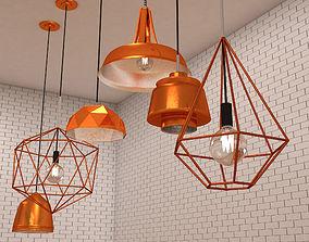 Copper Lamps 3D