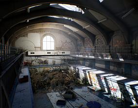 City abandoned pool 3D model