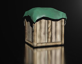 3D model Transportation box - wooden box