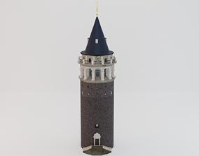 Galata Tower 3D asset game-ready