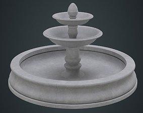 3D asset Fountain 1A