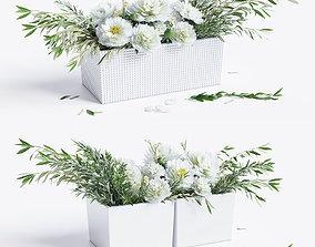 Flower compositions 3D model